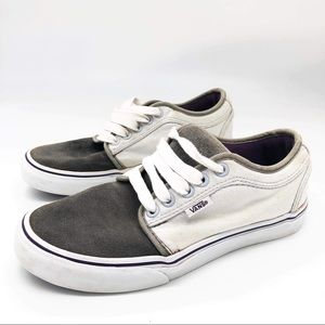 Vans Grey Suede Skateboard Shoes